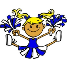 art-of-a-little-girl-in-a-blue-cheerleader-uniform-performing-a-jump-cheerleader-pictures-clip-art-300_300