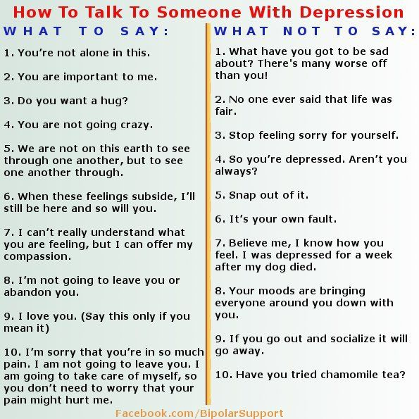 How to deal with someone with depression