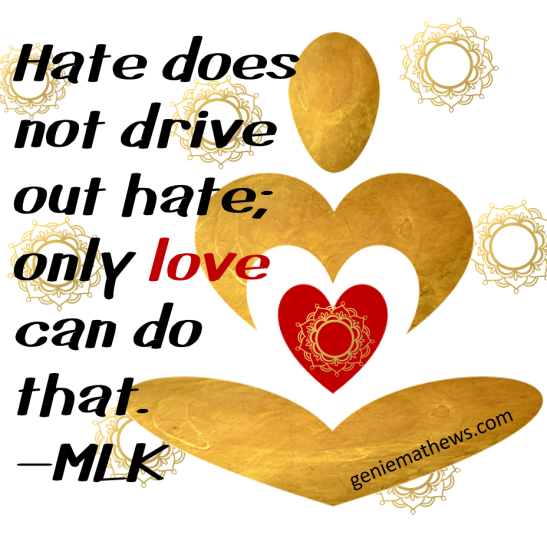 hate does not drive out hate