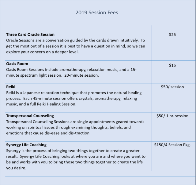 2019 Session Fees